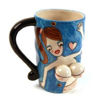 3D bikini girl funny mug