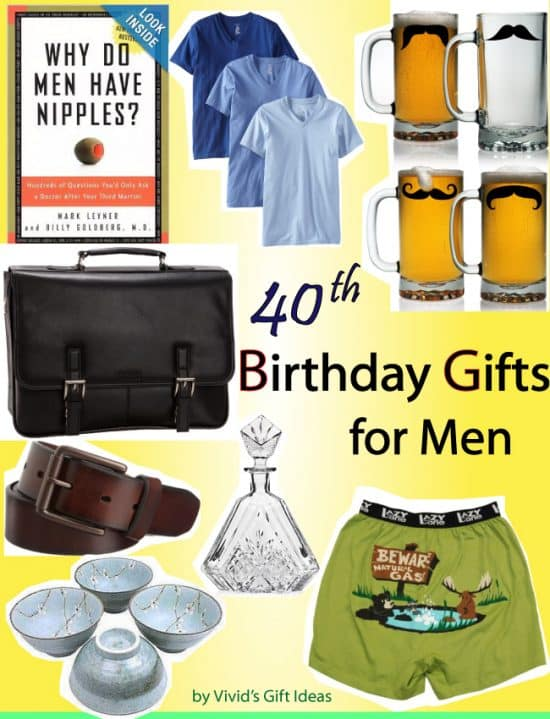 40th Birthday Gift Ideas For Men