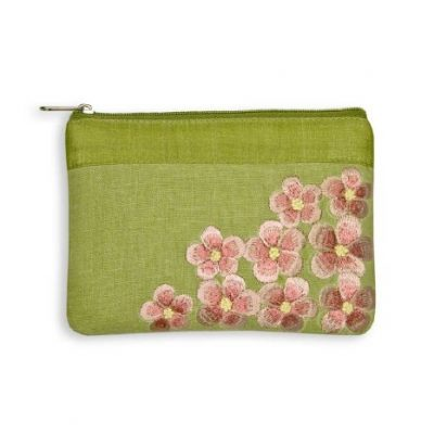 Embroidered Blossom Pouch