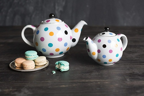 London Pottery Polka Dot Globe Teapot