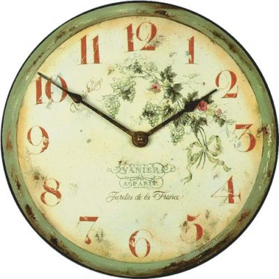 French Vineyard Vintage Decor Clock