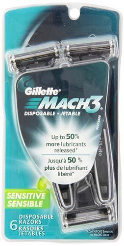 Gillette Mach3 Sensitive Men's Disposable Razor