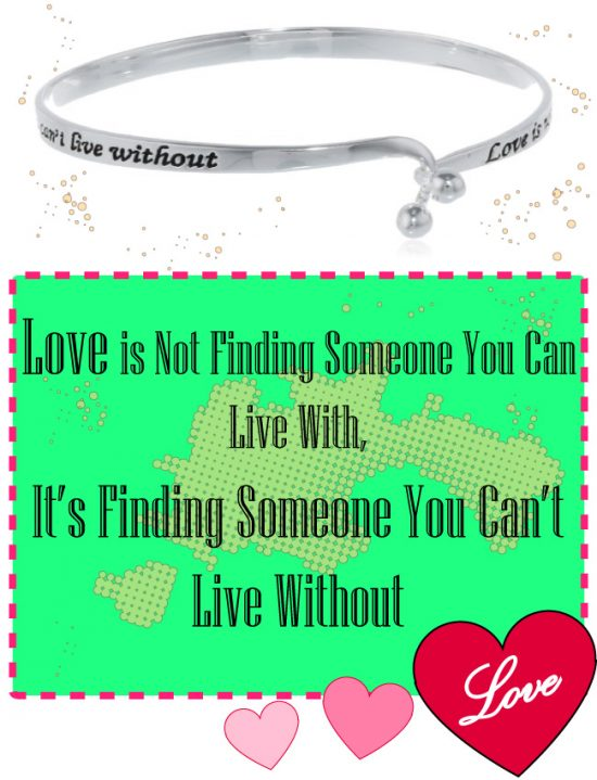 Love Quote Bangle Bracelet