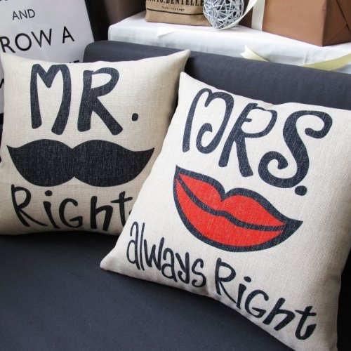 Ojia Mr. Right And Mrs. Always Right Pillowcases