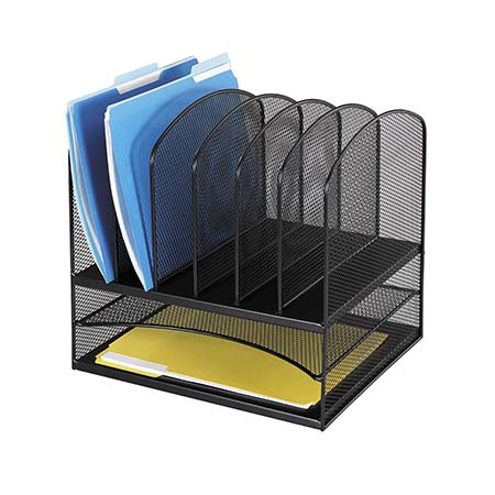 Safco Mesh Desk Organizer with Two Horizontal and Six Upright Sections | Going to College Gifts