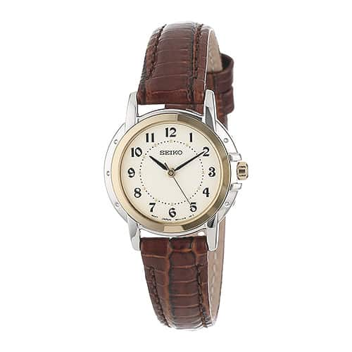 Seiko Women's SXGA02 Brown Leather Strap Casual Watch