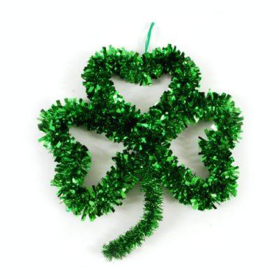 St. Patrick's Day Tinsel Shamrock Wall Decoration