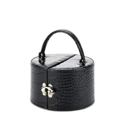 Stylish Black Mirror Jewelry Box