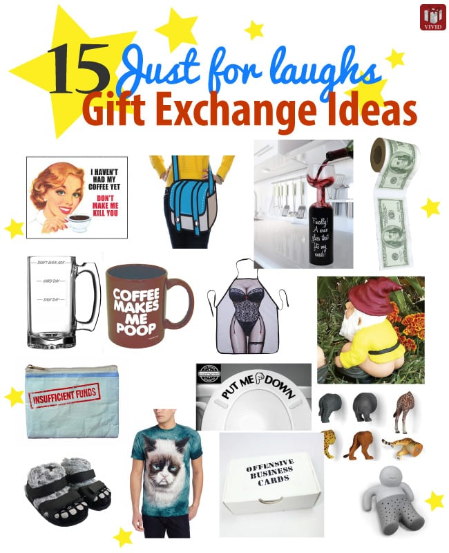 sc 1 st  Vividu0027s Gift Ideas & 15 Just-for-Laughs Funny Gift Exchange Ideas