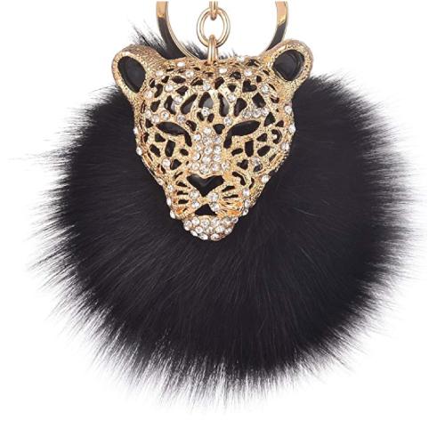Leopard Charm Keychain