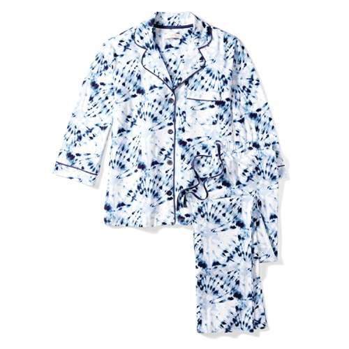 Mae Notch Collar 3/4 Sleeve Pajama Set
