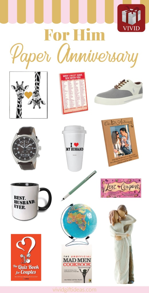 25 Paper Anniversary Gift Ideas For Him Vivid S