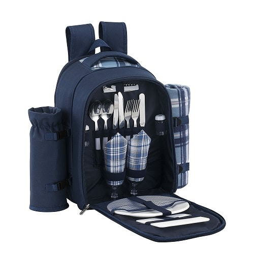 Picnic Backpack with Cooler Compartment