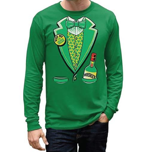 St Patricks Day Green Tuxedo Shirt