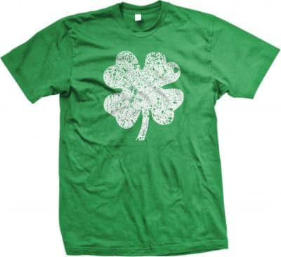 4 Leaf Clover Distressed St. Patrick's Day Irish Heritage T-Shirt