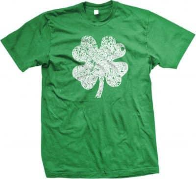 4 Leaf Clover Distressed St. Patrick's Day Irish Heritage T-Shirt