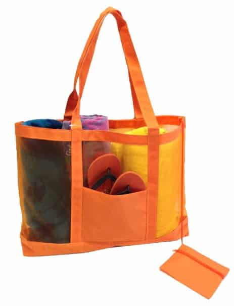 Getagadget Huge See-Thru Mesh Beach Tote Bag