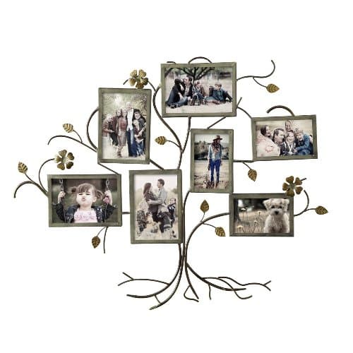 Bronze Iron Family Tree Picture Frame