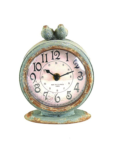 Vintage Pewter Table Clock | Modern first anniversary gifts