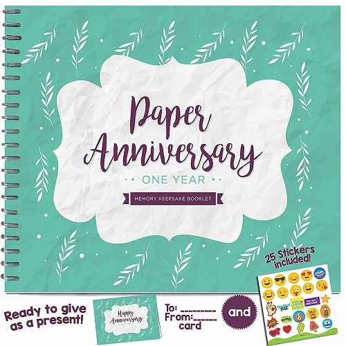 Paper Anniversary Memory Keepsake Booklet | Paper Anniversary Gift for Him
