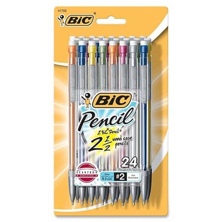 BIC Mechanical Pencil with Colorful Barrels