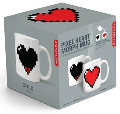 Heat-sensitive Pixelated Heart Mug