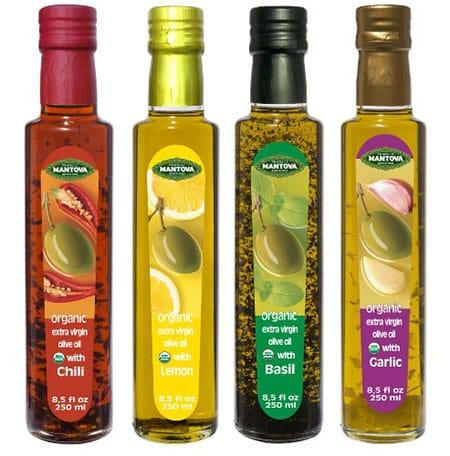 Mantova Garlic,Basil,Chili,Lemon Organic Extra Virgin Olive Oil - Best Anniversary Gifts for Parents