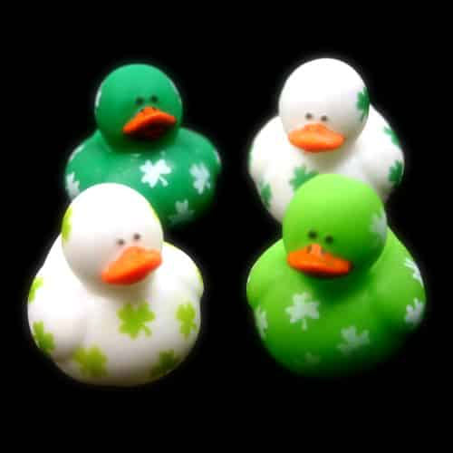 Mini Irish St. Patrick's Day Rubber Ducks