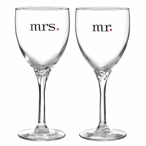 Mr. and Mrs. Wine Glasses