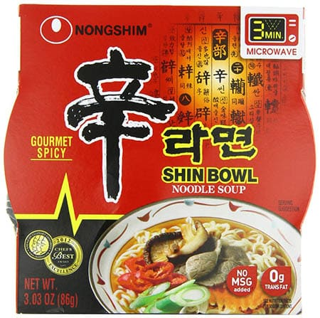 Nongshim Shin Bowl Gourmet Spicy - Pack of 12