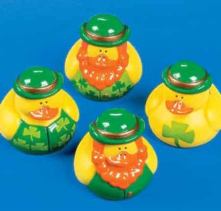 St. Patrick's Day Rubber Ducks