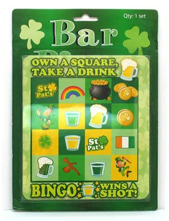St. Patrick's Bar Bingo - St. Patrick's Day Drinking Games