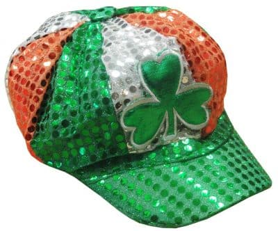 St. Patrick's Day Tri Color Sequin Shamrock Hat