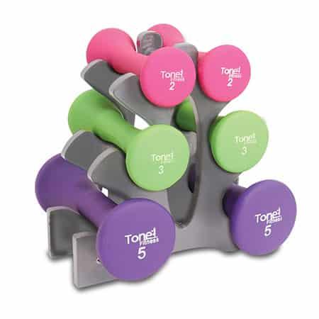 Tone Fitness Hourglass Shaped Dumbbells - Gifts for College Students