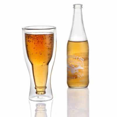Upside Down Beer Glass Set