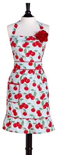 country style cherry apron