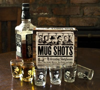 Mug shots shot glass set
