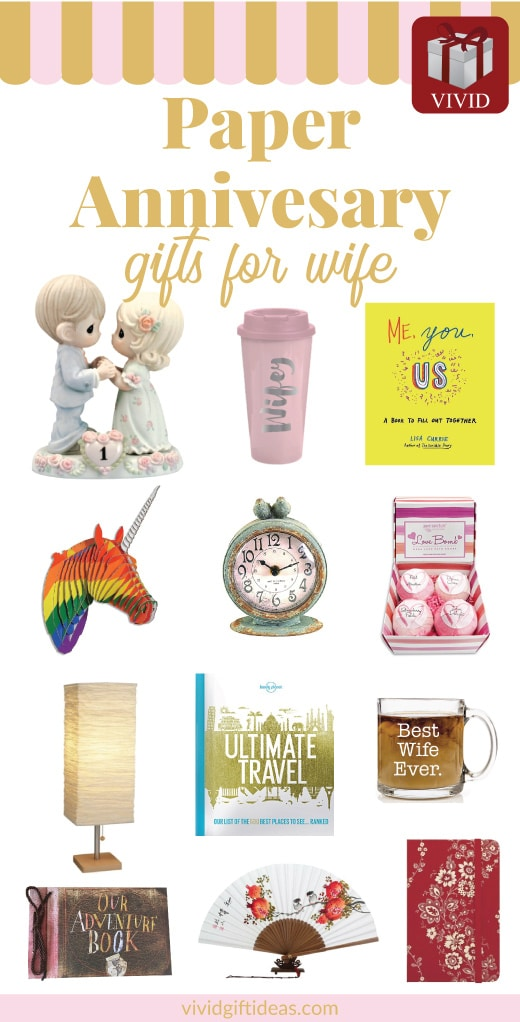 Paper Anniversary Gifts for Her | 1st wedding anniversary gifts for wife