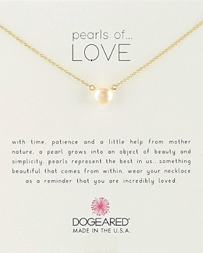 Dogeared Pearls of Love Necklace. Paper anniversary gifts for wife.