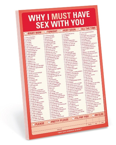 Knock Knock Why I Must Have Sex With You Pad - Paper Anniversary Gift for Him