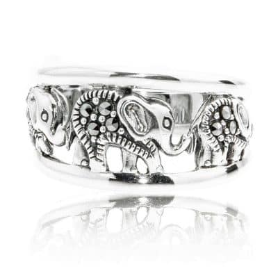 Chuvora Elephant Band Ring for Men and Women