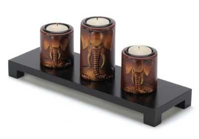 Elephant Trio Candleholders