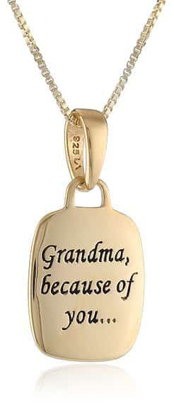 Grandma, Because Of You, I Have Memories To Last A Lifetime - Reversible Pendant Necklace