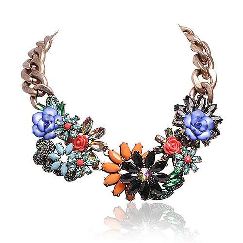 Jane Stone Floral Necklace