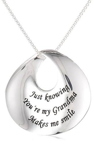 Just Knowing You're My Grandma Makes Me Smile - Pendant Necklace