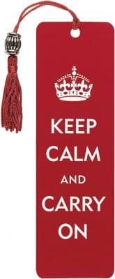 Keep Calm and Carry On Beaded Bookmark