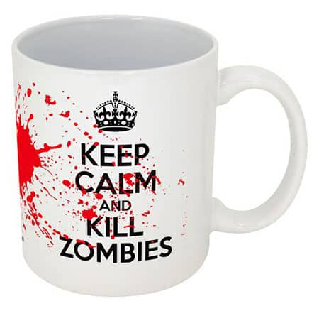 Keep Calm and Kill Zombies-- Funny Coffee Mug