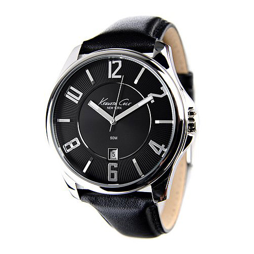 Kenneth Cole New York Leather Collection Black Dial Men's watch