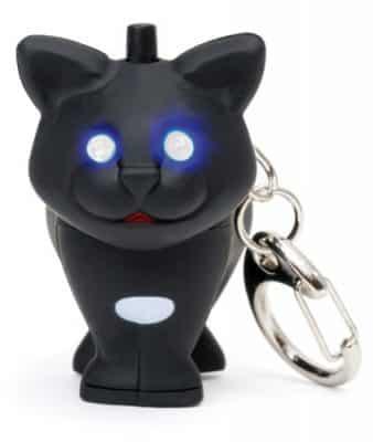 Kikkerland Cat LED Keychain with Sound