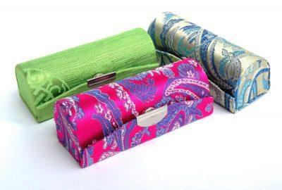 Lipstick Case 3pcs Set With Floral Prints